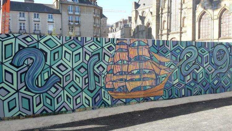 Station Saint-Germain - Graffeur et peintre : RaCrew