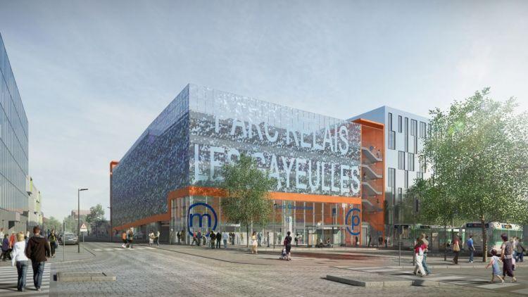 Parc relais et station les Gayeulles - © Atelier SCHALL - Image non contractuelle