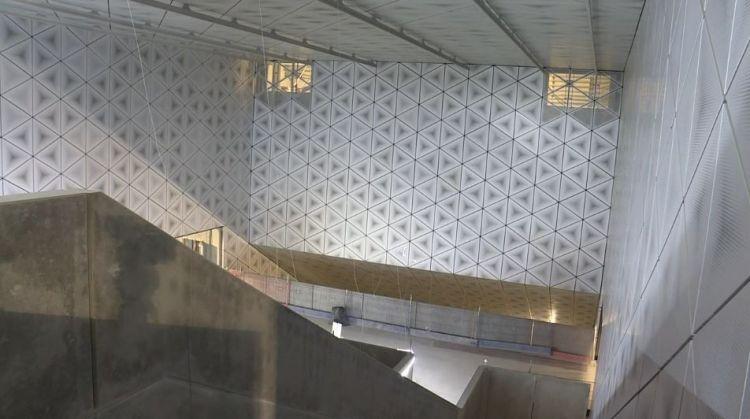 Station Saint-Germain - Mars 2019 - Fin de la pose du parements murs et plafonds