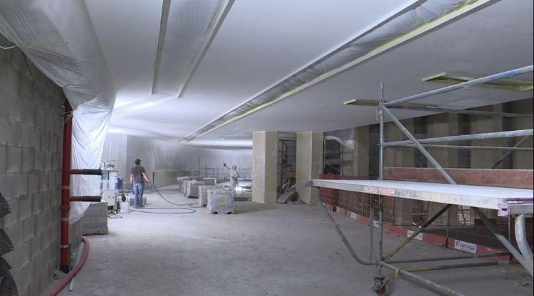 Station Sainte-Anne - Juillet 2019 - Pose des rampes d'escaliers et enduisage des plafonds