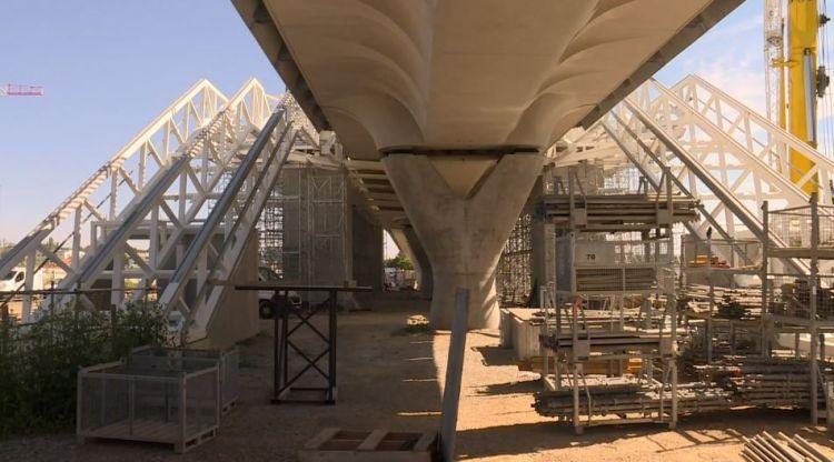 Station Cesson-Viasilva - Juillet 2019 - Avancement de la structure métallique