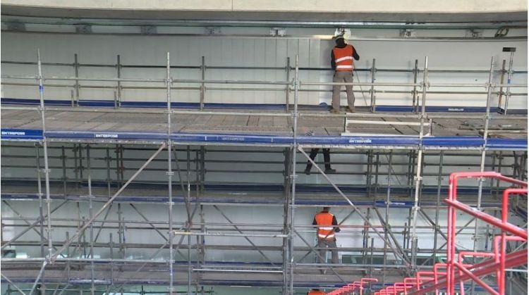 Station Gares - Aout 2019 - Revêtement de murs et second oeuvre