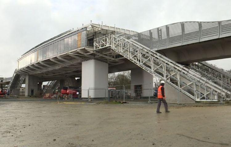Station Cesson-Viasilva - Janvier 2020 - Habillage des piliers