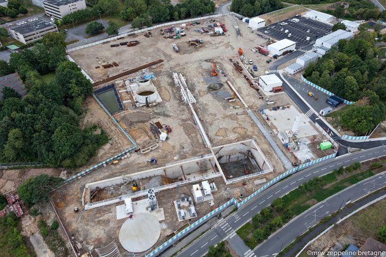 Base vie du tunnelier de la ligne b de Rennes Metropole